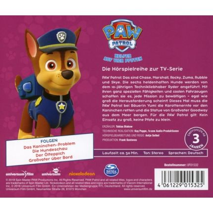 PAW Patrol CD 7 - Das Kaninchen- Problem, Die Hundeschau
